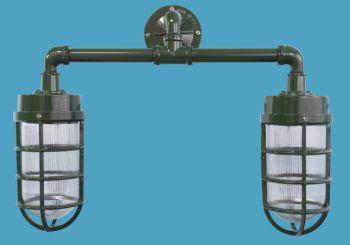 Primelite Product 2 Light Industrial Jelly Jar Wall Bracket