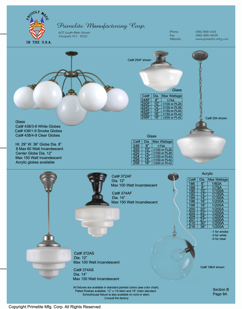 Primelite Catalog Section B – Primelite Manufacturing