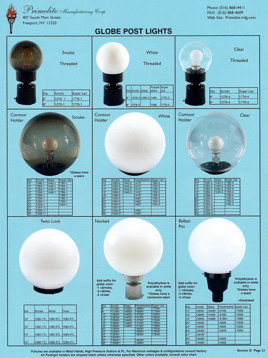 Primelite catalogs primelite manufacturing page 21 globe post light aloadofball Choice Image