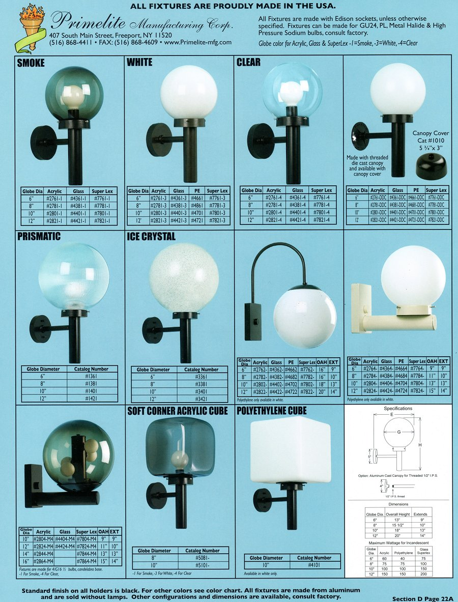 Primelite catalogs primelite manufacturing page 22 globe post light aloadofball Choice Image