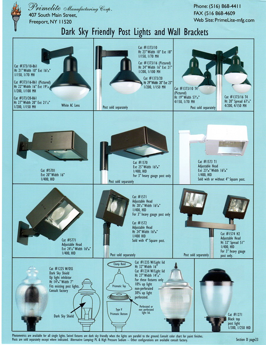 Dark Sky Friendly Lights Primelite Manufacturing