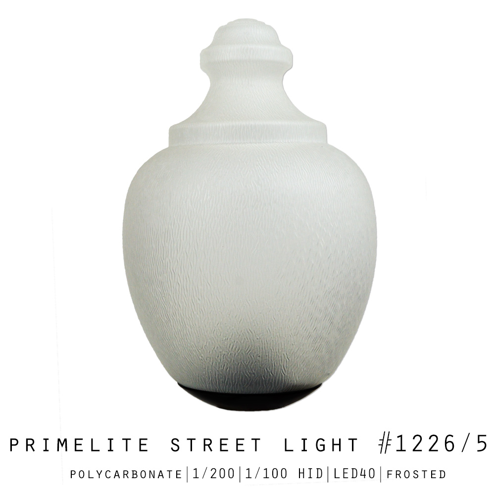 Primelite Street Light #1226/5 | Polycarbonate | Clear