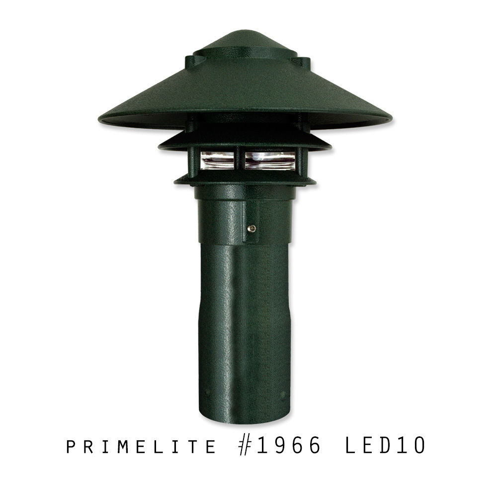 Primelite Garden Light #1966 LED10 | Cast Aluminum