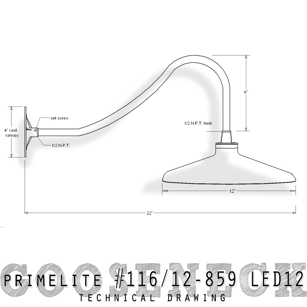 Gooseneck Light 116 12 859 Led12 Primelite Manufacturing
