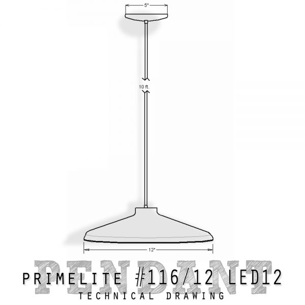 Technical Drawing #116/12 LED12