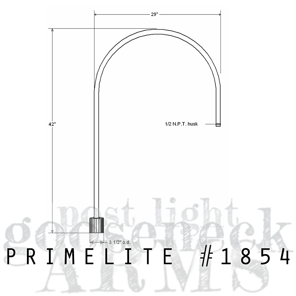 technical drawing Post Mount Arm #1854