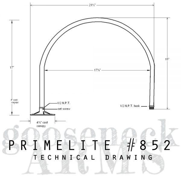 technical drawing Gooseneck Arm #851