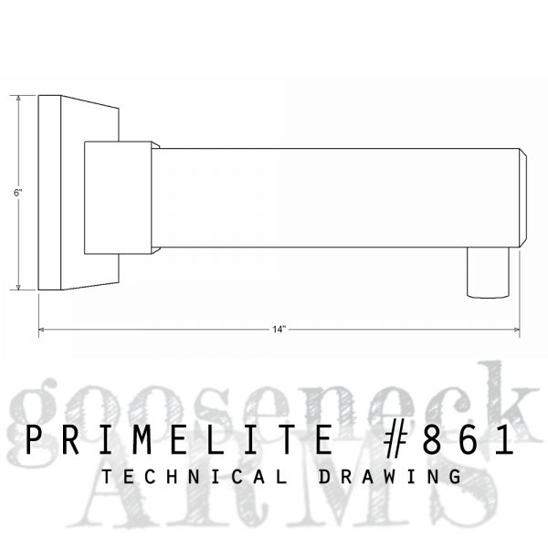 Technical drawing Gooseneck Arm #861