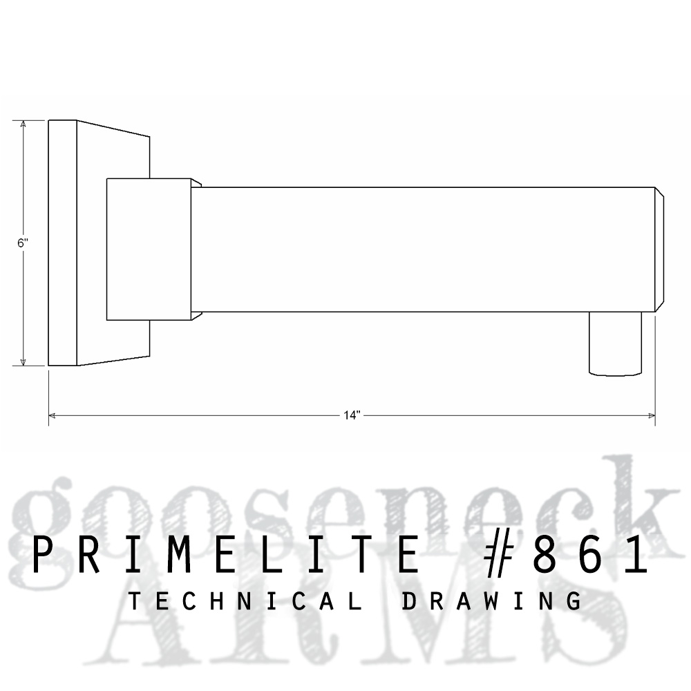 Technical drawing Gooseneck Arm #861