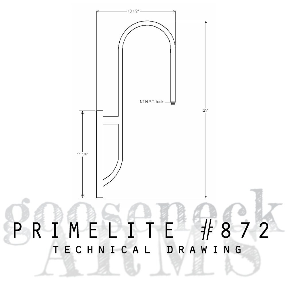 Technical drawing Gooseneck Arm #872
