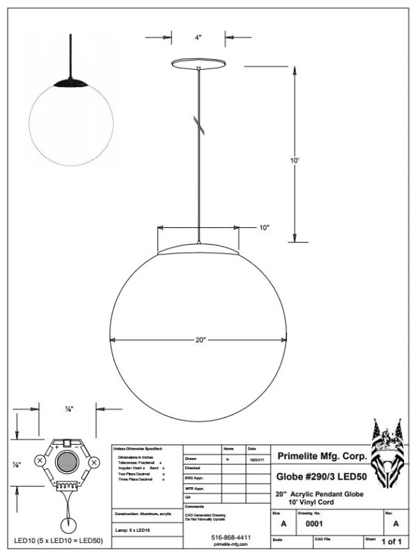 technical drawing #290 LED