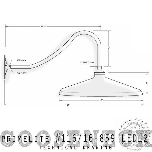 technical drawing; gooseneck #116/16-859