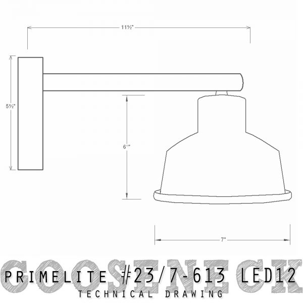 technical drawing Gooseneck #23/7-613