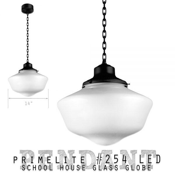 Primelite School House Globe Pendant #254