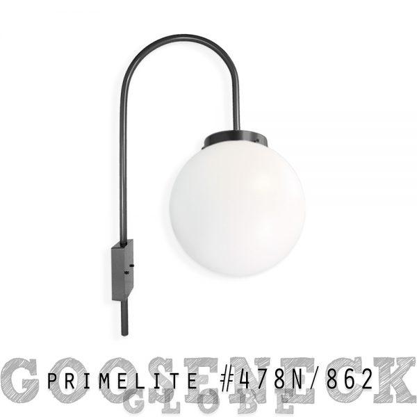 Gooseneck Globe #478N/862