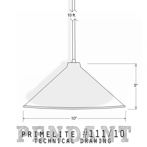 technical drawing Pendant #111/10