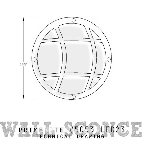technical drawing #5053 LED23