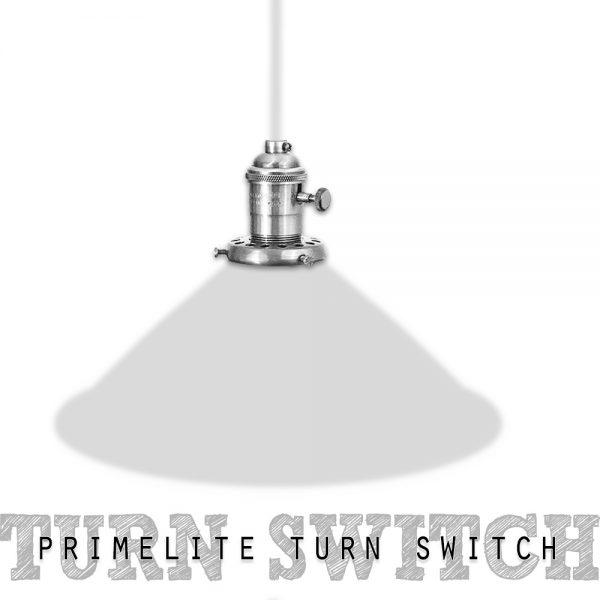 Turn Switch, Brass, Chrome