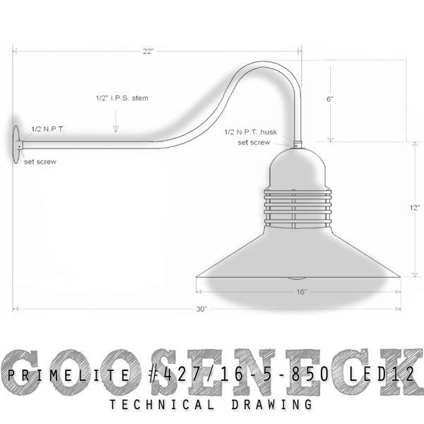 gooseneck #427/16-5-850 LED12
