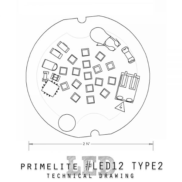 technical drawing LED12 type 2