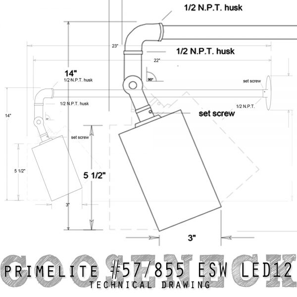 technical drawing #57/855 ESW